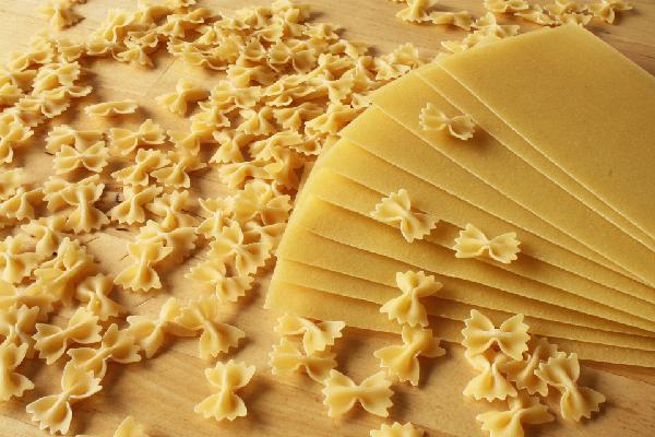 Pastas que contienen trigo