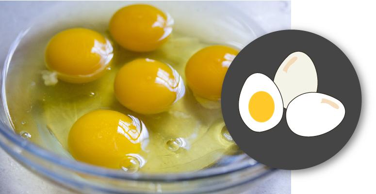 ingerir huevo crudo