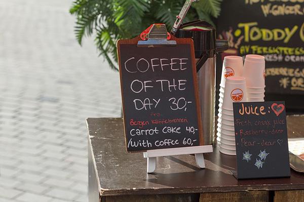 Menu cafetería