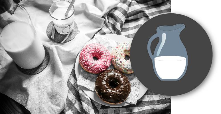 icono e imagen de la leche