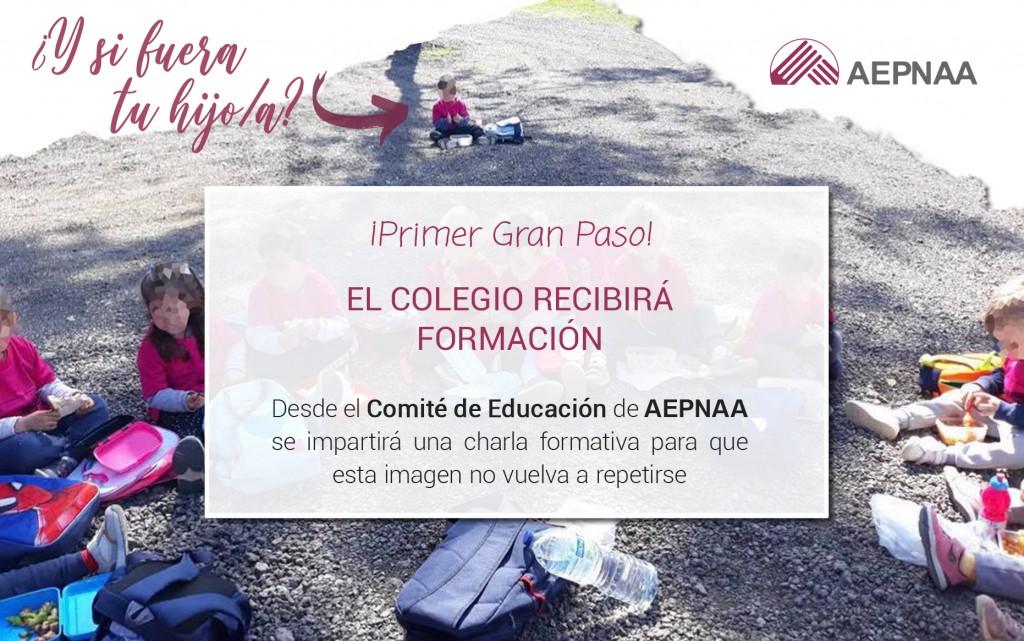 El Comité de Educación de AEPNAA impartirá una charla al colegio afectado para evitar en el futuro la exclusión de más niños con alergia en excursiones