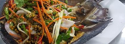 Alérgenos no declarados huevo, gluten, soja y pescado / crustáceos en ensalada de cangrejo de España